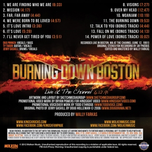 King's X Burning Down Boston Credits